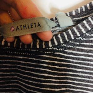 Athleta Tops - Athleta Striped Open Back Tank Top Womens Size XS